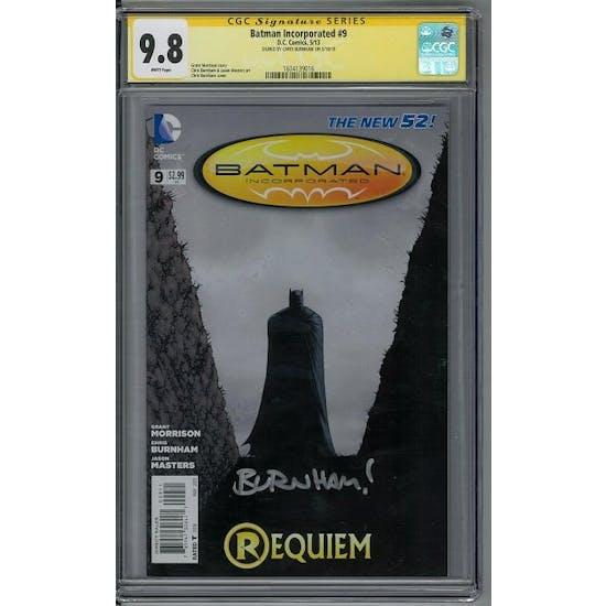 Batman Incorporated #9 CGC 9.8 Chris Burnham Signature Series (W)