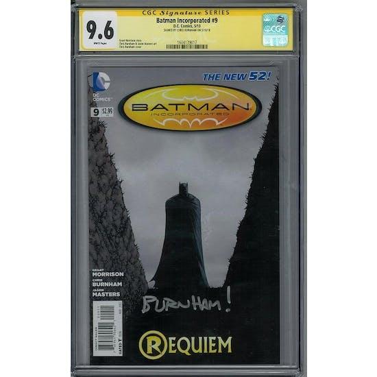 Batman Incorporated #9 CGC 9.6 Chris Burnham Signature Series (W)