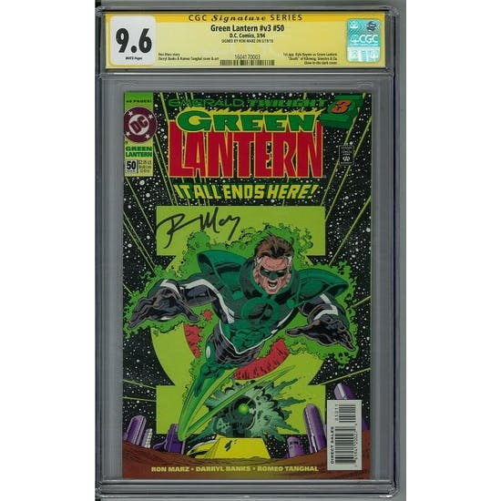 Green Lantern #v3 #50 CGC 9.6 Ron Marz Signature Series (W) *1604170003*