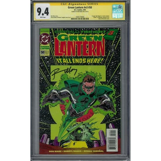 Green Lantern #v3 #50 CGC 9.4 Ron Marz Signature Series (W) *1604170004*