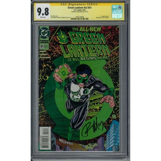 Green Lantern #v3 #51 CGC 9.8 Ron Marz Signature Series (W) *1604170008*