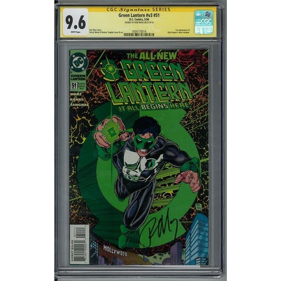Green Lantern #v3 #51 CGC 9.6 Ron Marz Signature Series (W)