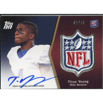 2011 Topps Rising Rookies NFL Shield Patch Autographs #SRAPTY Titus Young 1/40
