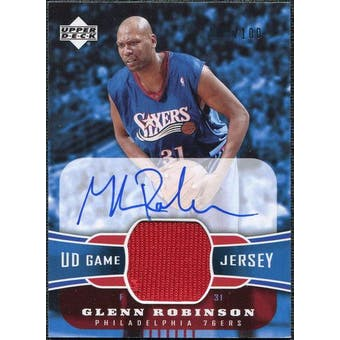 2004/05 Upper Deck UD Game Jerseys Autographs #GR Glenn Robinson /100