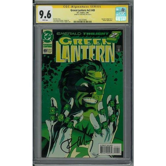 Green Lantern #v3 #49 CGC 9.6 Ron Marz Signature Series (W)