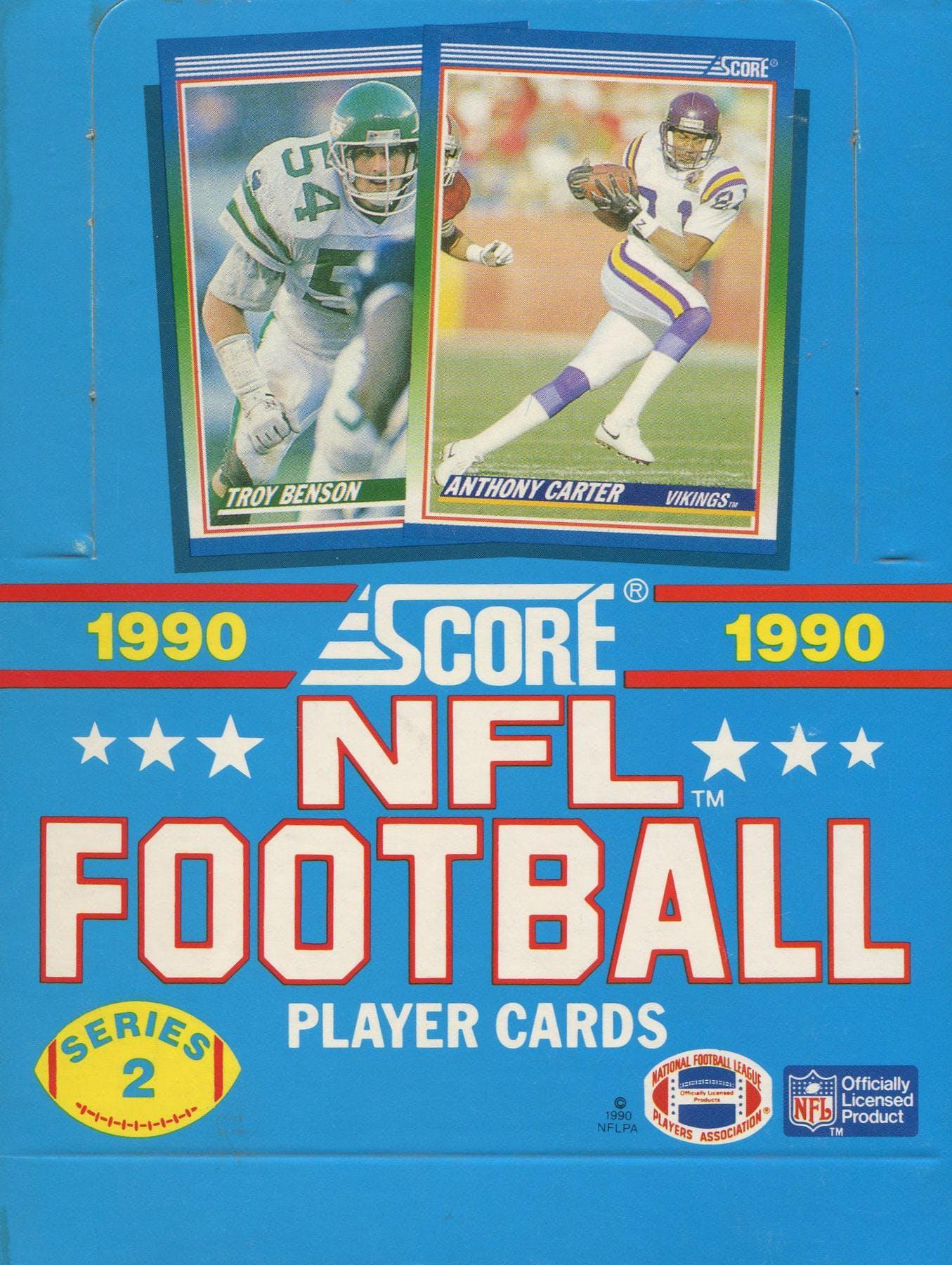 1990 Score Series 2 Football Wax Box Da Card World