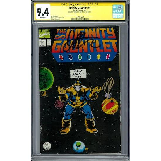 Infinity Gauntlet #4 CGC 9.4 Ron Lim Jim Starlin Signature Series (W) *1610839001*