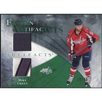 2010/11 Upper Deck Artifacts Frozen Artifacts Jersey Patch Emerald #FAMG Mike Green /25