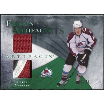 2010/11 Upper Deck Artifacts Frozen Artifacts Jersey Patch Emerald #FAMU Peter Mueller 9/25