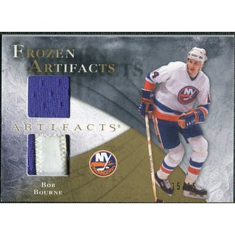 2010/11 Upper Deck Artifacts Frozen Artifacts Jersey Patch Gold #FABB Bob Bourne 15/15
