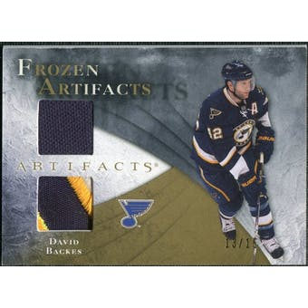 2010/11 Upper Deck Artifacts Frozen Artifacts Jersey Patch Gold #FADB David Backes 13/15