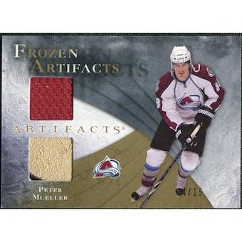2010/11 Upper Deck Artifacts Frozen Artifacts Jersey Patch Gold #FAMU Peter Mueller /15