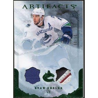 2010/11 Upper Deck Artifacts Jerseys Patches Emerald #40 Ryan Kesler /50