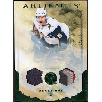 2010/11 Upper Deck Artifacts Jerseys Patches Emerald #91 Derek Roy 4/50