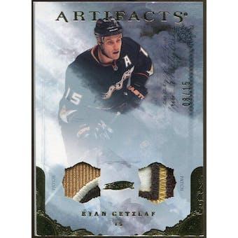 2010/11 Upper Deck Artifacts Jerseys Patches Gold #67 Ryan Getzlaf 8/15