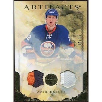 2010/11 Upper Deck Artifacts Jerseys Patches Gold #94 Josh Bailey 4/15