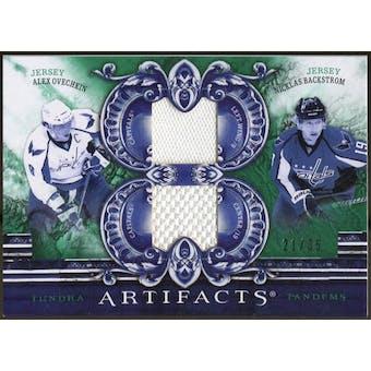 2010/11 Upper Deck Artifacts Tundra Tandems Emerald #TT2CAPS Nicklas Backstrom/Alex Ovechkin 21/35
