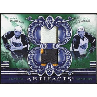 2010/11 Upper Deck Artifacts Tundra Tandems Patches Emerald #TT2ATL Zach Bogosian/Evander Kane 25/40