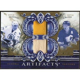2010/11 Upper Deck Artifacts Tundra Tandems Patches Gold #TT2DMEN Al MacInnis/Ray Bourque 14/15