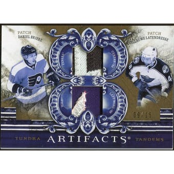 2010/11 Upper Deck Artifacts Tundra Tandems Patches Gold #TT2DRUM Daniel Briere/Guillaume Latendresse 9/15
