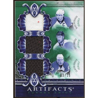 2010/11 Upper Deck Artifacts Tundra Trios Emerald #TT3FLYS Mike Richards/Jeff Carter/Claude Giroux 3/15