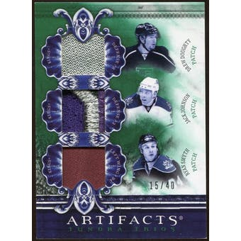 2010/11 Upper Deck Artifacts Tundra Trios Patches Emerald #TT3LAK Drew Doughty/Jack Johnson/Ryan Smyth 15/40