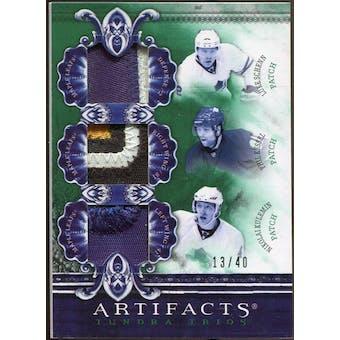 2010/11 Upper Deck Artifacts Tundra Trios Patches Emerald #TT3BUDS Phil Kessel/Nikolai Kulemin/Luke Schenn /40