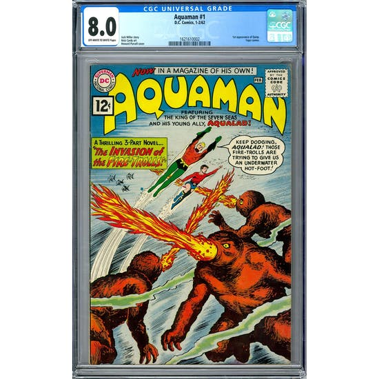 Aquaman #1 CGC 8.0 (OW-W) *1621610002*