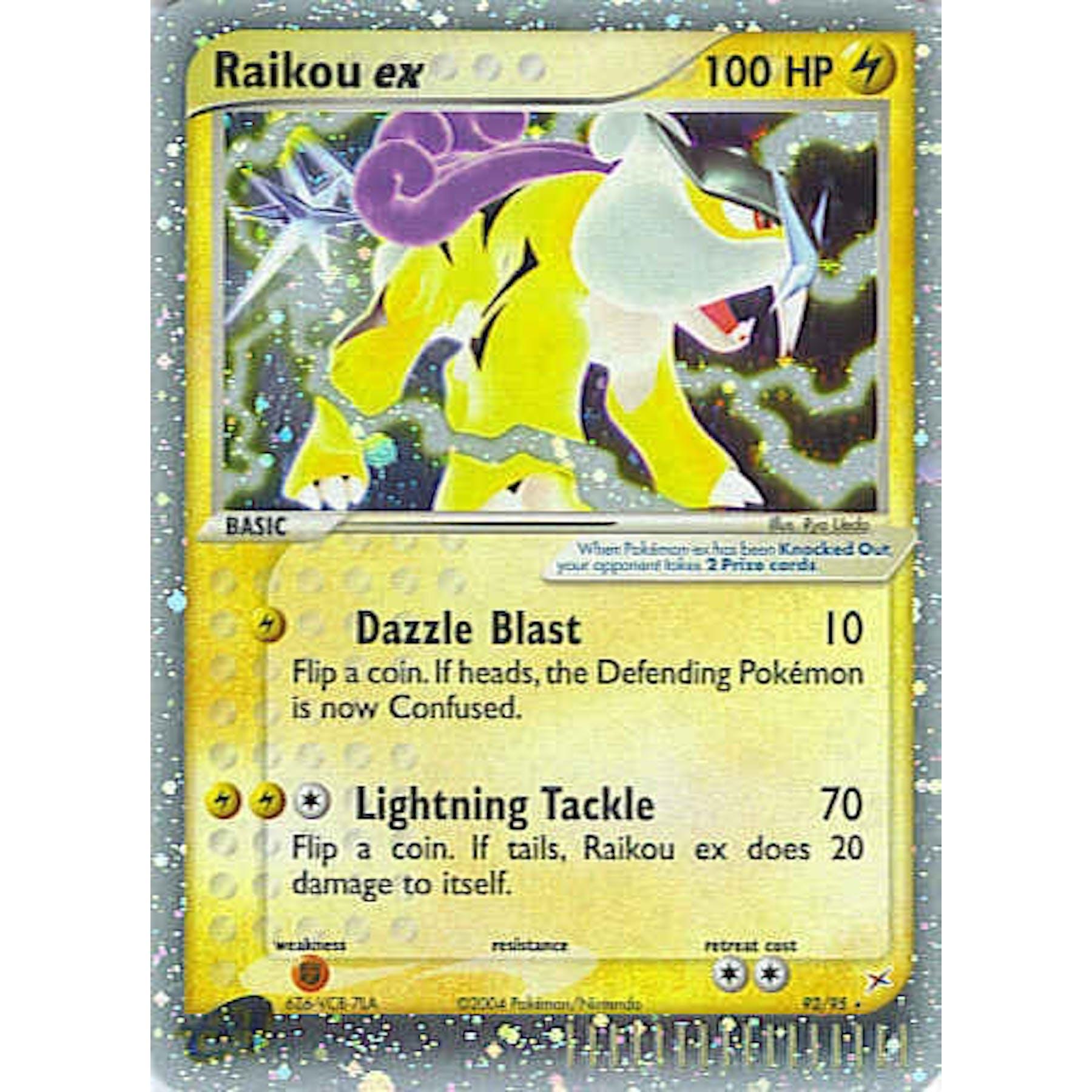 Pokemon Team Aqua Team Magma Single Raikou Ex 9295