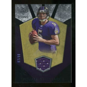 2008 Upper Deck Icons Rookie Brilliance Jersey Gold #RB18 Joe Flacco /99