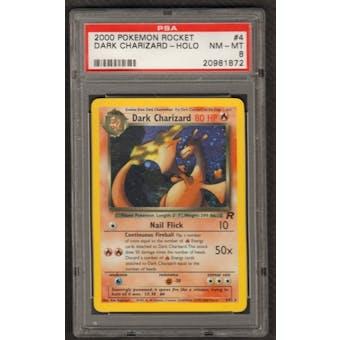 Pokemon Team Rocket Dark Charizard 4/82 PSA 8