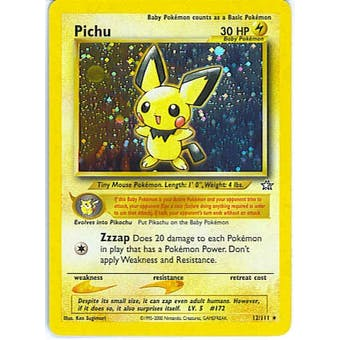 Pokemon Neo Genesis Single Pichu 12/111 - SLIGHT PLAY (SP)