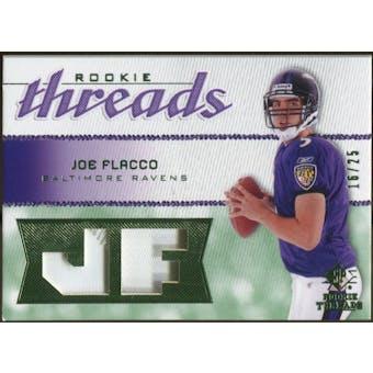2008 Upper Deck SP Rookie Threads Rookie Threads Patch #RTJF Joe Flacco /25