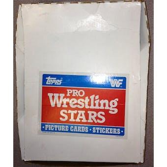 1985 Topps WWF Pro Wrestling Stars Rack Pack Box