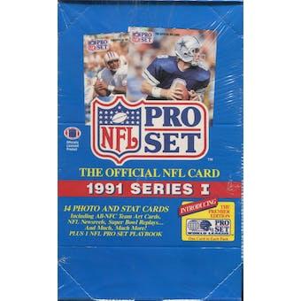 1991 Pro Set Series 1 Football Wax Box