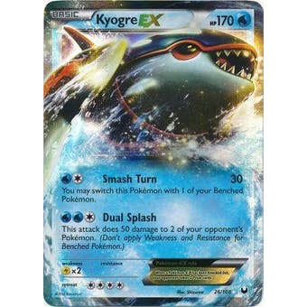 Pokemon Dark Explorers Single Kyogre ex 26/108 - SLIGHT PLAY (SP)