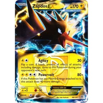 Pokemon Plasma Storm Single Zapdos ex 48/135 - NEAR MINT (NM)