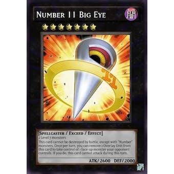 Yu-Gi-Oh Galactic Overlord Single Number 11: Big Eye Secret Rare - NEAR MINT (NM)