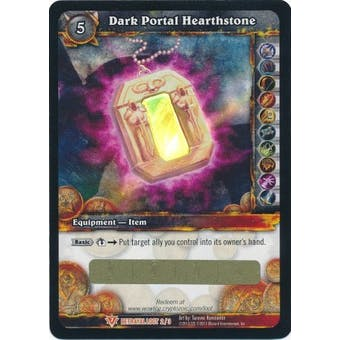 WoW Timewalkers: Betrayal of the Guardian Dark Portal Hearthstone Unscratched Loot Card