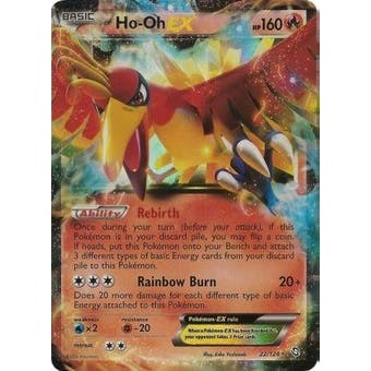 Pokemon Dragons Exalted Single Ho-oh ex 22/124 - SLIGHT PLAY (SP)