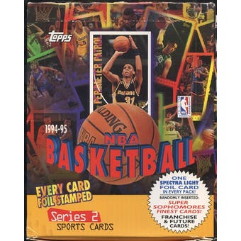 1994/95 Topps Series 2 Basketball Rack Box