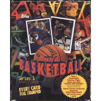 1994/95 Topps Series 1 Basketball Rack Box