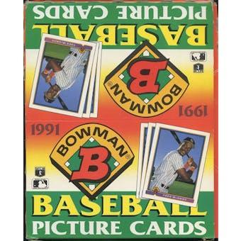 1991 Bowman Baseball Rack Box