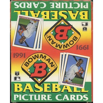 1991 Bowman Baseball Rack Box