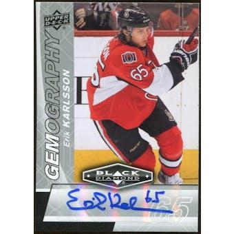 2010/11 Upper Deck Black Diamond Gemography #GEK Erik Karlsson Autograph