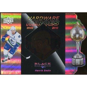 2010/11 Upper Deck Black Diamond Hardware Heroes #HHHS Henrik Sedin /100