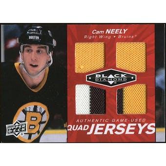 2010/11 Upper Deck Black Diamond Jerseys Quad Ruby #QJCN Cam Neely 7/50