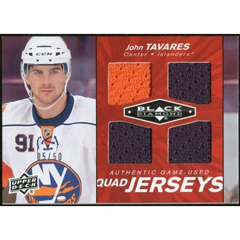 2010/11 Upper Deck Black Diamond Jerseys Quad Ruby #QJJT John Tavares /50