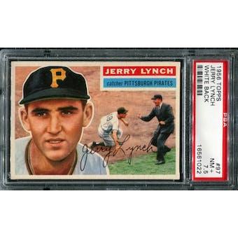 1956 Topps Baseball #97 Jerry Lynch PSA 7.5 (NM+) *1022