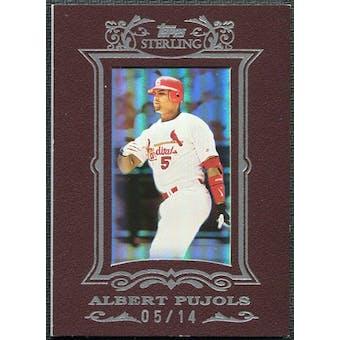 2007 Topps Sterling Framed Burgundy #172 Albert Pujols 5/14